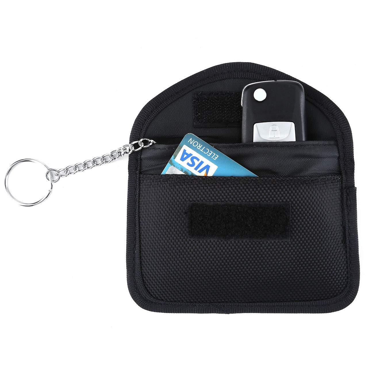 Long Size - Black ACBunji Faraday Bag Car Key FOB Signal Blocker Case Keyfob RFID Signals Shielding Pouch Cage Wallet Antitheft Lock Devices Privacy Protection