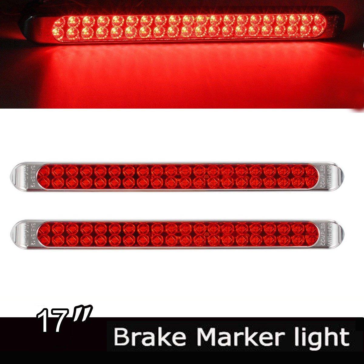 2/pi/èces 17/Super Brillant 40/LED rouge clignotant Signal//apprentissage Marqueur Camion Remorque Barre de lumi/ère