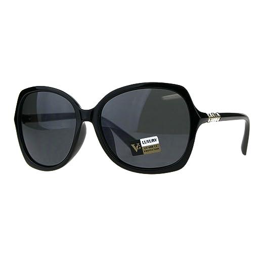 61f46ac7dc0 Womens Rhinestone 90s Oversize Plastic Butterfly Designer Sunglasses All  Black