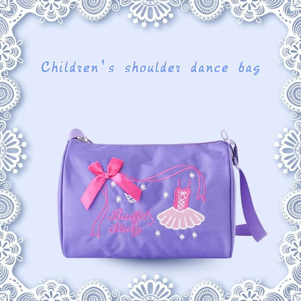 Jlong Dance Crossbody Bag for Girls Latin Ballet Dance Bag with Girls Dancing Pettern