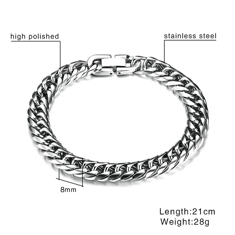 Aooaz Jewelry Stainless Steel Circle Wheat Chain Bracelet Bangle Bracelet