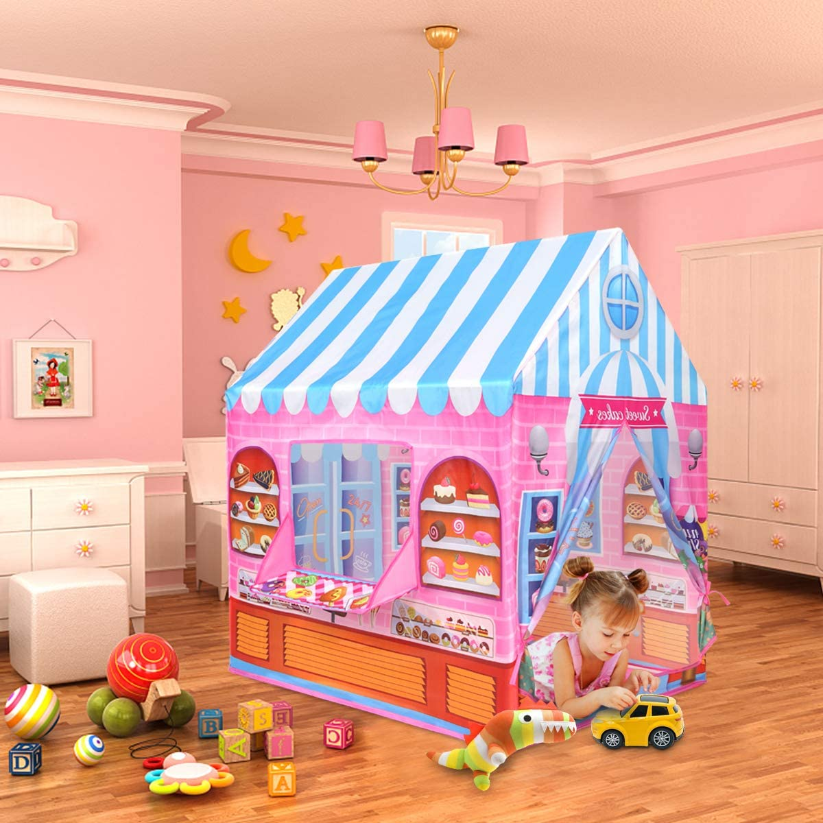 Anyshock Playhouse for Kids Tent,Candy Princess Castle ...