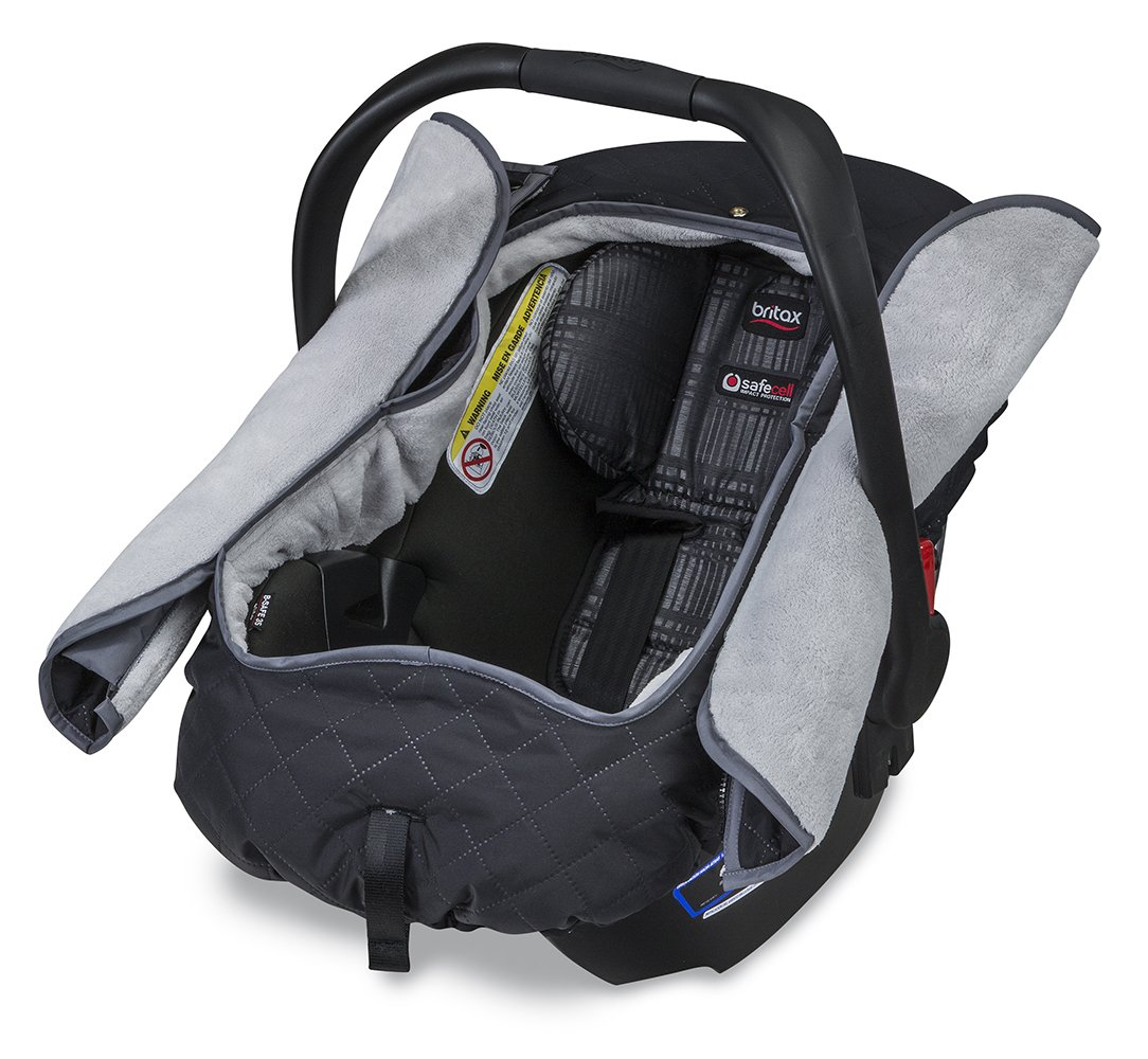 This convertible car seats is like all of the Britax car seats in one: it fits babies as small as four pounds all the way up to kids that are pounds. Plus, it has two cup holders, which moms love.