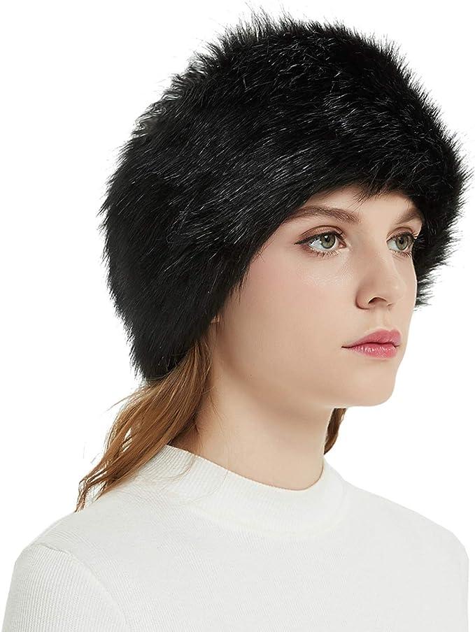 Soul Young Womens Faux Fur Headband with Stretch Winter Earwarmer Earmuff