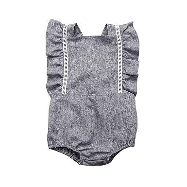 MIOIM Traje del Vestido del Mono de Las Batas del Traje de Las Batas Del Bebé de La Niña Recién Nacida: Amazon.es: Ropa y accesorios