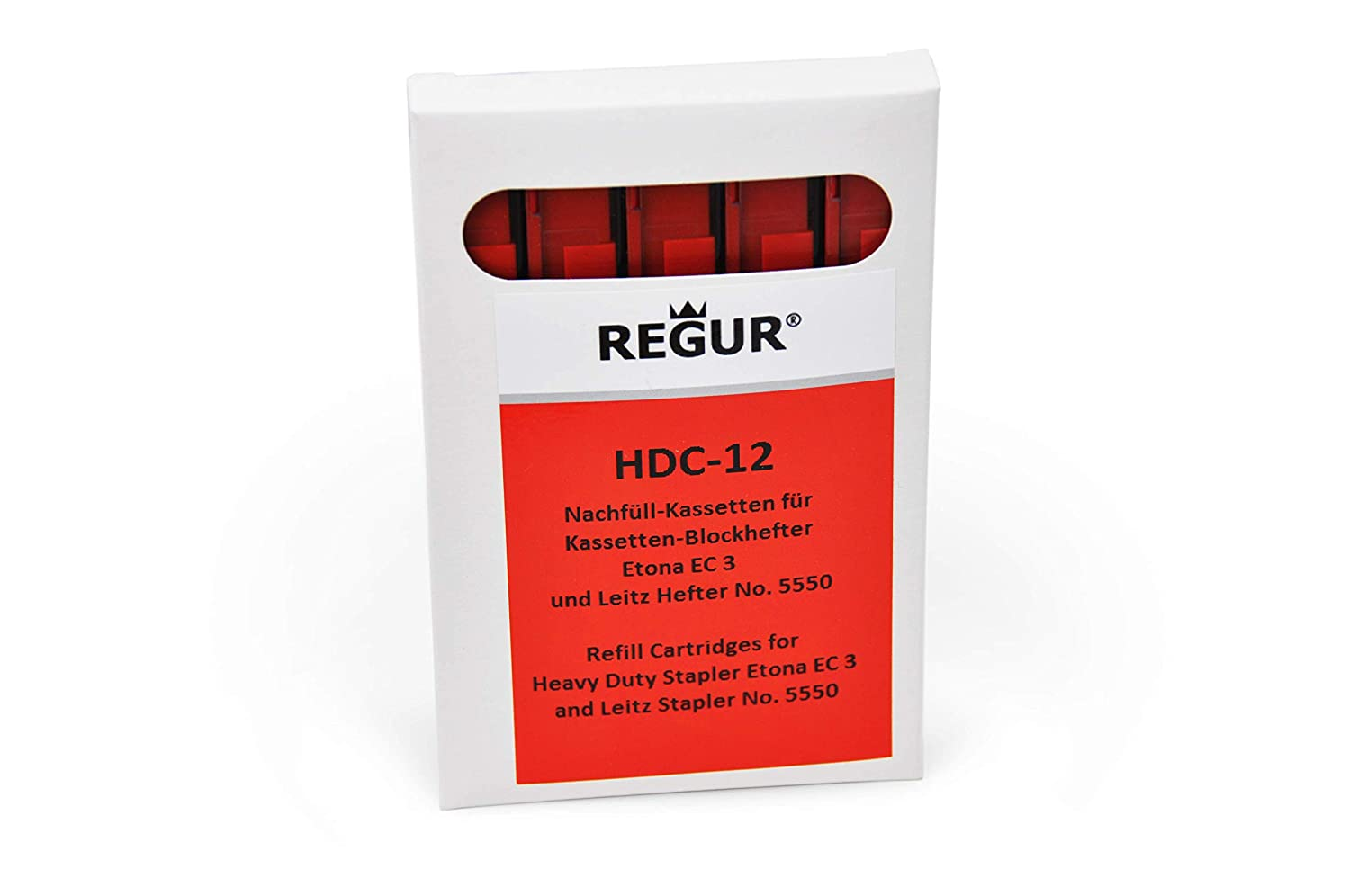 REGUR HDC 12 Red Staple Cassette Refills (55-80 Sheets ) for Etona EC3 Dr. Gold & Co.