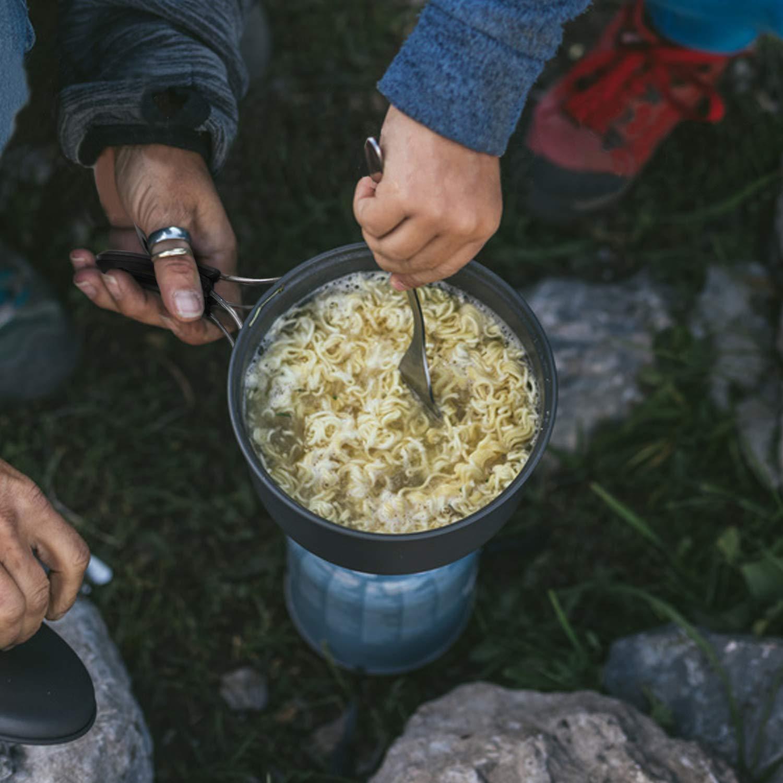 Keymao Camping Geschirr Set Camping Kochgeschirr 2-3 Personen Camping Topf and Pfanne aus Aluminium Campingt/öpfe Kochgeschirr f/ür Outdoor Kochen