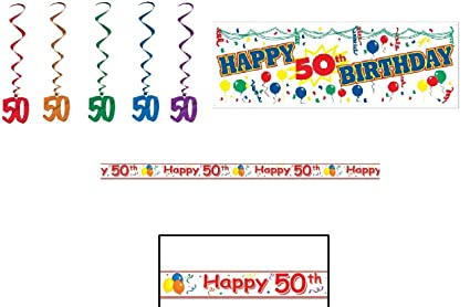 Image Unavailable Not Available For Color HAPPY 50th Birthday Party Decorations
