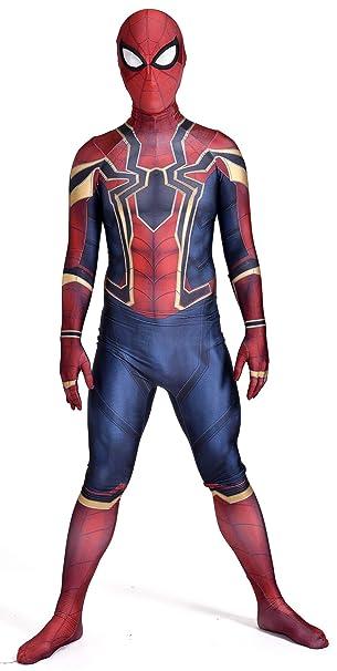 Amazon.com: Disfraz de Spiderman de Iron Spiderman, máscara ...
