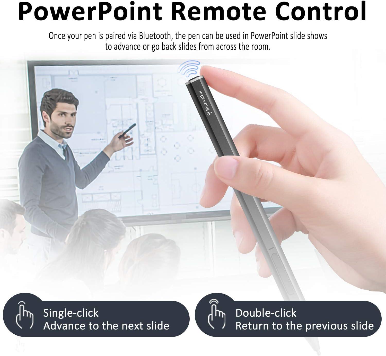 Compatible con Bluetooth 4096 Niveles de Sensibilidad a la Presi/ón Recargable Stylus Pen Fijaci/ón Magn/ética RENAISSER L/ápiz para Surface Fabricado en Taiw/án Raphael 520BT