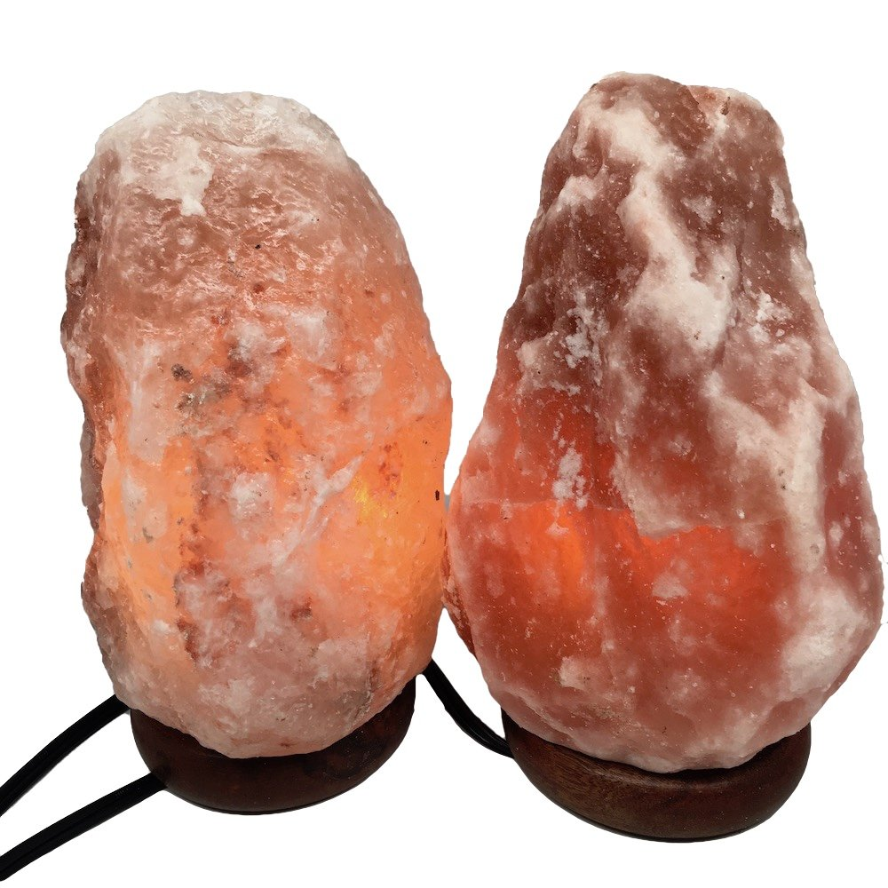2x Himalaya Natural Handcraft Rough Raw Crystal Salt Lamp 8.5''-8.75''Tall, X071, Exact Item Delivered by Watan Gems