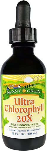 Sunny Green Ultra Chlorophyll 20x Natural Peppermint Flavor, 2 Ounce
