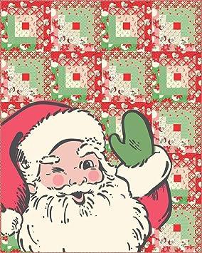 Urban Chiks Swell Christmas Santa Quilt Kit Moda Fabrics Kit31120 Amazon Co Uk Kitchen Home