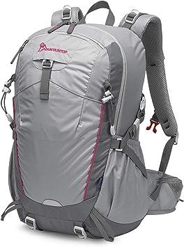 MOUNTAINTOP Mochila Senderismo 35 litros a Montañismo Alta Capacidad Hombre Mujer Escalada Deporte Morral para Viajes Acampadas Impermeable con ...