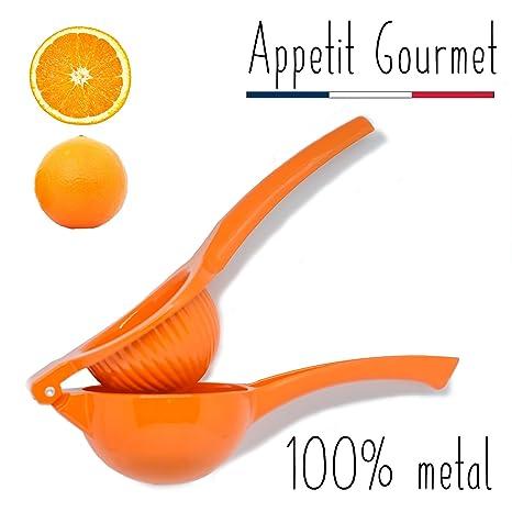 Appetit Gourmet Exprimidor de Naranjas Exprimidor Manual Irrompible de Aluminio Utensilio para Exprimir Naranjas Pomelos y