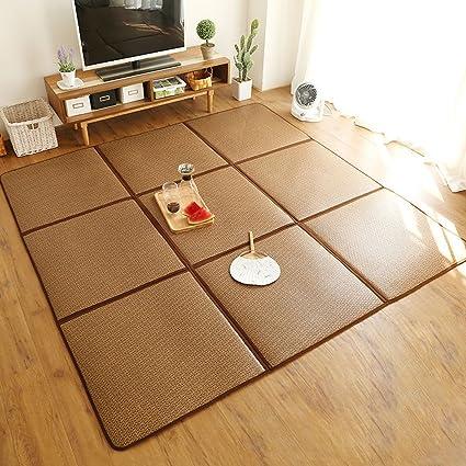 Folding Puzzle Rattan Mats Tatami Summer Living Room Mat Mat Children  Bedroom Crawling Mat Rug,