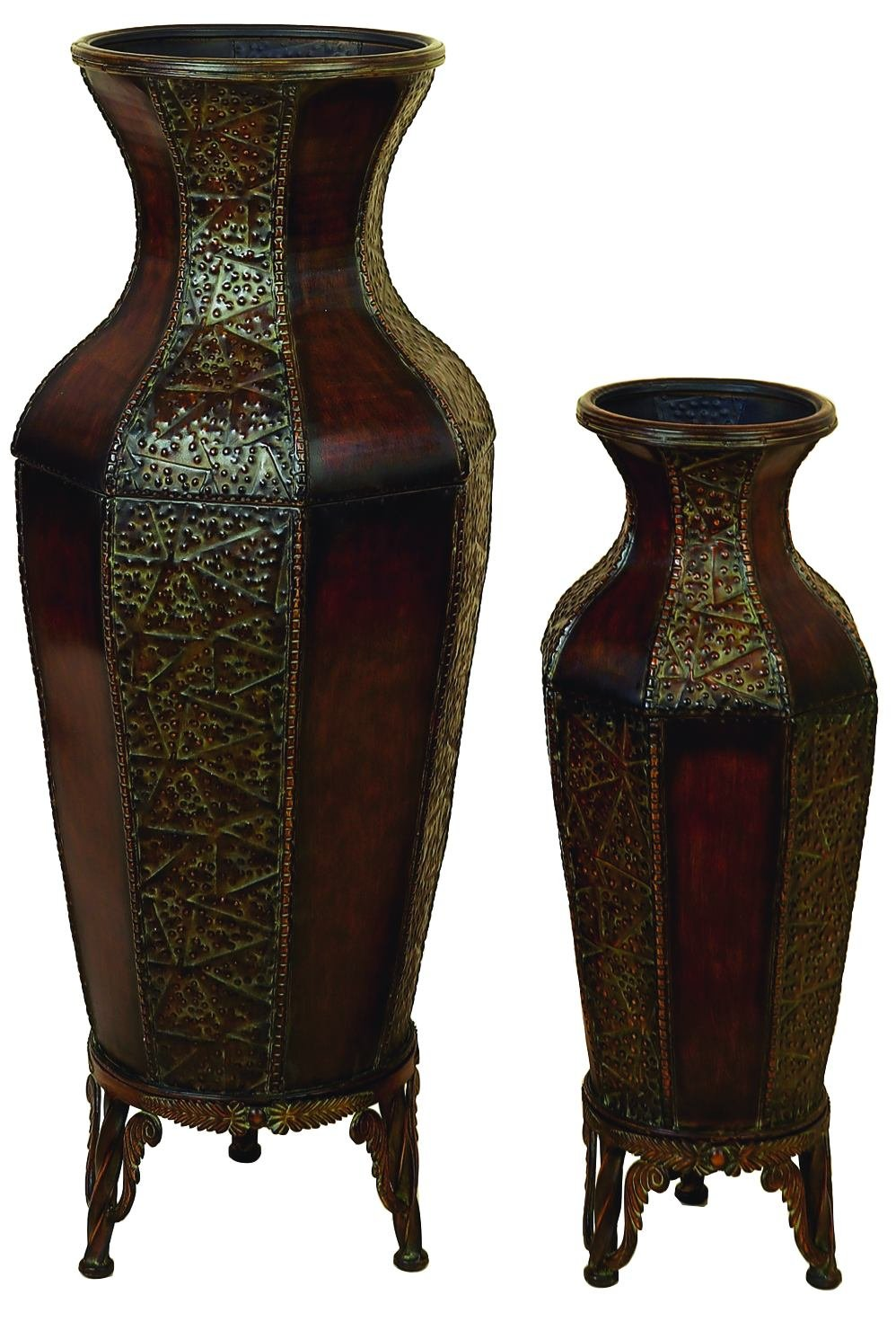 brown vase floor bamboo home pjquyl in with magnolias floral dp crafts diy green kit plantation kitchen com tall amazon