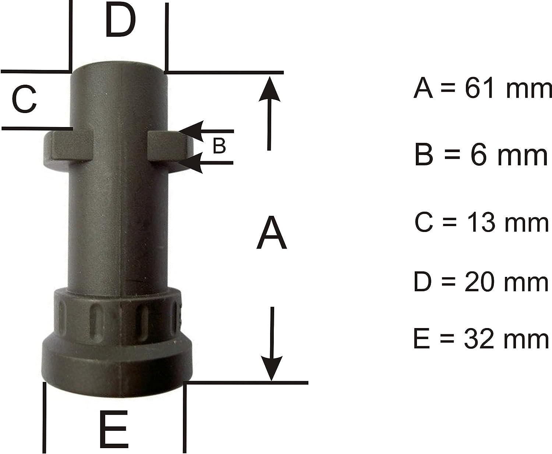 For Karcher K2 K3 K4 K5 K6 K7 Bayonet Adapter Coupling to 1//4 BSP Male Screw