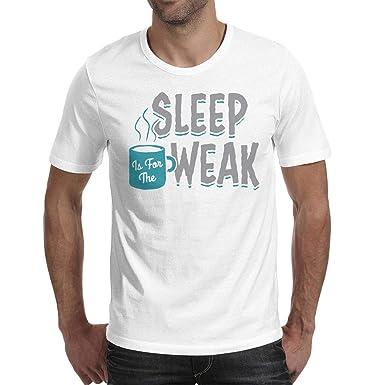 2bbb0dd44 Amazon.com: ShengMingo Sleep is for The Weak Funny Man's t-Shirts ...