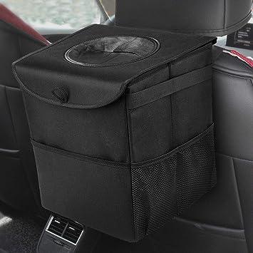 Kriogor Auto Mülleimer Mit Deckel Ip68 Wasserdicht Faltbar Abfalltasche Auto Organizer Tasche Für Alle Autos Auto