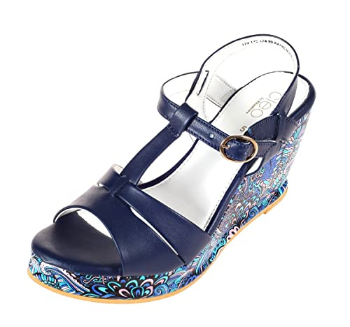 43a09c119a5f Cleo from Khadims Womens Synthetic Heels Navy  Buy Online at Low Prices in  India - Amazon.in