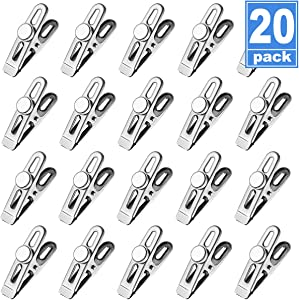 Refrigerator Magnets Magnetic Clips Chip Bag Clips Heavy Duty Fridge Magnets Hooks, Perfect for Food Classroom Office Photo Calendar - 20 Pack