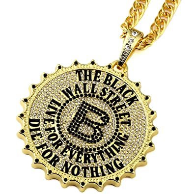 Amazon mcsays hiphop mens amazon mcsays hiphop mens gold plated gear round card big b pendant necklace star hip hop rock dj bar dance mozeypictures Gallery