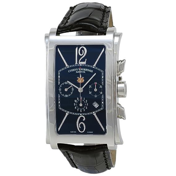 Reloj Cuervo y Sobrinos 1014.1N Caballero Prominente Crono: Amazon.es: Relojes