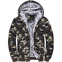 3bb7419429b D.B.M Men s Winter Plus Velvet Padded Zipper Hooded Warm Sweater Jacket