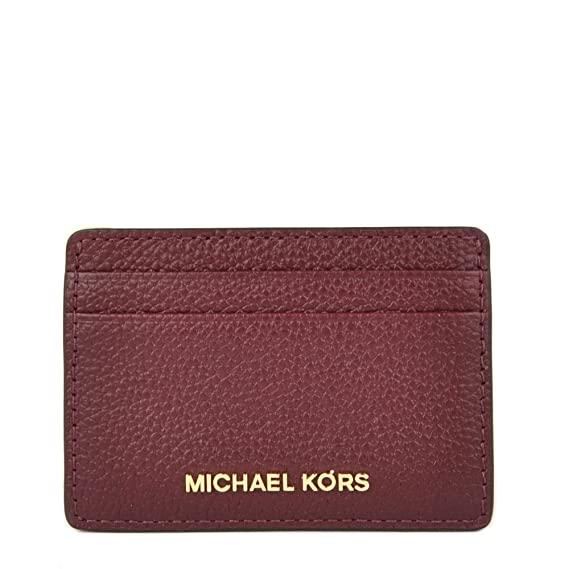4205a79644a48 MICHAEL by Michael Kors Money Pieces Oxblood Leather Card Holder one size  Oxblood  Amazon.co.uk  Clothing