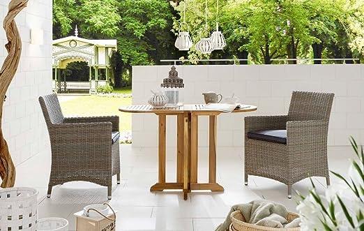 Dreams4Home Balcón Juego India ratán silla de jardín plegable Juego de jardín terraza jardín de invierno: Amazon.es: Jardín