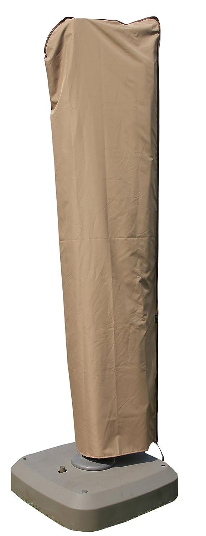 SORARA Cantilever Umbrella Cover, Offset Large Umbrella Cover for 9ft-11ft Umbrella with Push Rod, Wood Brown