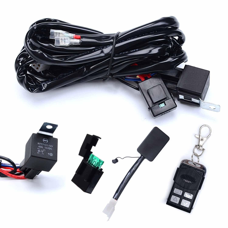 Mojo Wiring Harness Remote 26 Diagram Images Sl1500 Amazon Com Kawell Heavy Duty Led Light Bar Kit