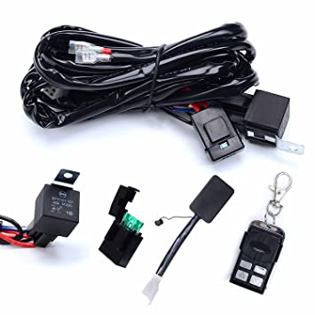 71mI6WRvuKL._SY355_ amazon com kawell heavy duty led light bar wiring harness kit led light bar wiring harness amazon at edmiracle.co