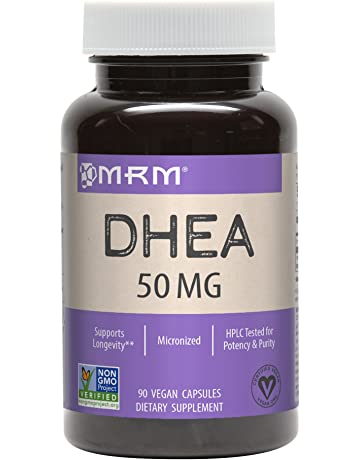 MRM Micronized DHEA Vegetarian 50 mg Caplets, 90-Count Bottles