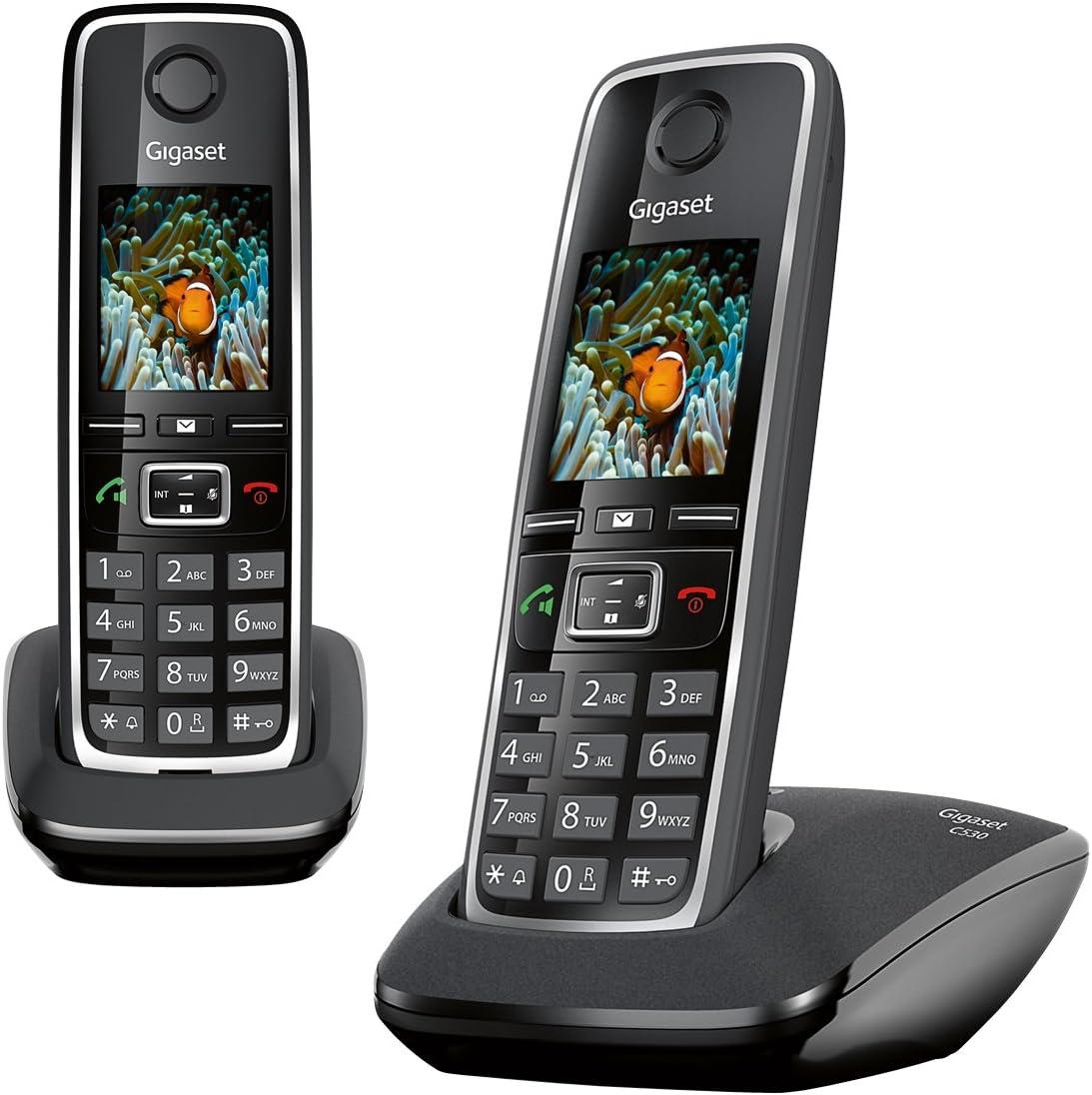 Gigaset C530 Duo - Teléfono inalámbrico (2 terminales), color negro [Versión Importada]: Amazon.es: Electrónica