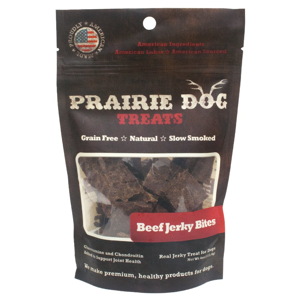 Prairie Dog Pet Products Smokehouse Bites, 4 oz Western Beef BJB4