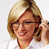 GangSam 3.0 x Magnifying Makeup Eye Glasses Women Reading Glasses Spectacles with Flip Down Up Lenses Cosmetic Application