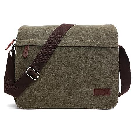 Outreo Vintage Borsa a Tracolla Borse Uomo Borsa a Spalla Messenger Bag  Sacchetto di Tela Borsello 4e7e9fb5cae