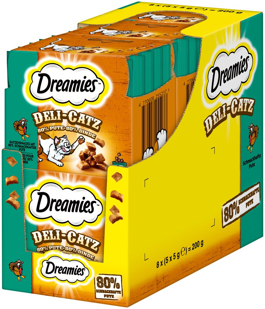 DREAMIES Deli-Catz Aperitivo para Gatos 8Paquetes (8Unidades de 25g) 4770608255497