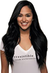 IRRESISTIBLE ME 1 piece Clip in Hair Extensions Jet Black (Color #1) -