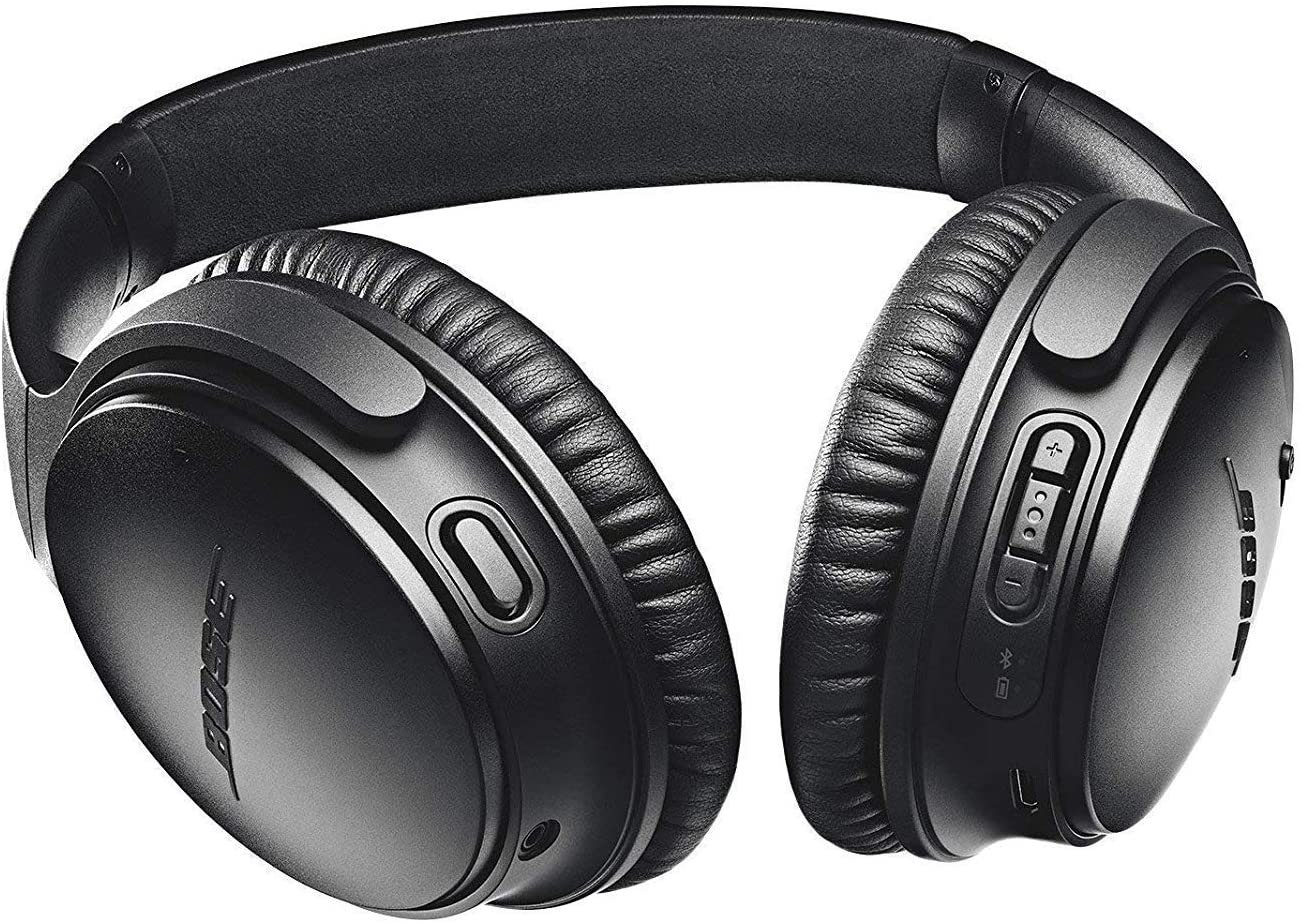 Bose QuietComfort 35 II Wireless Bluetooth Headphones, Noise-Cancelling, with Alexa voice control, enabled with Bose AR Black