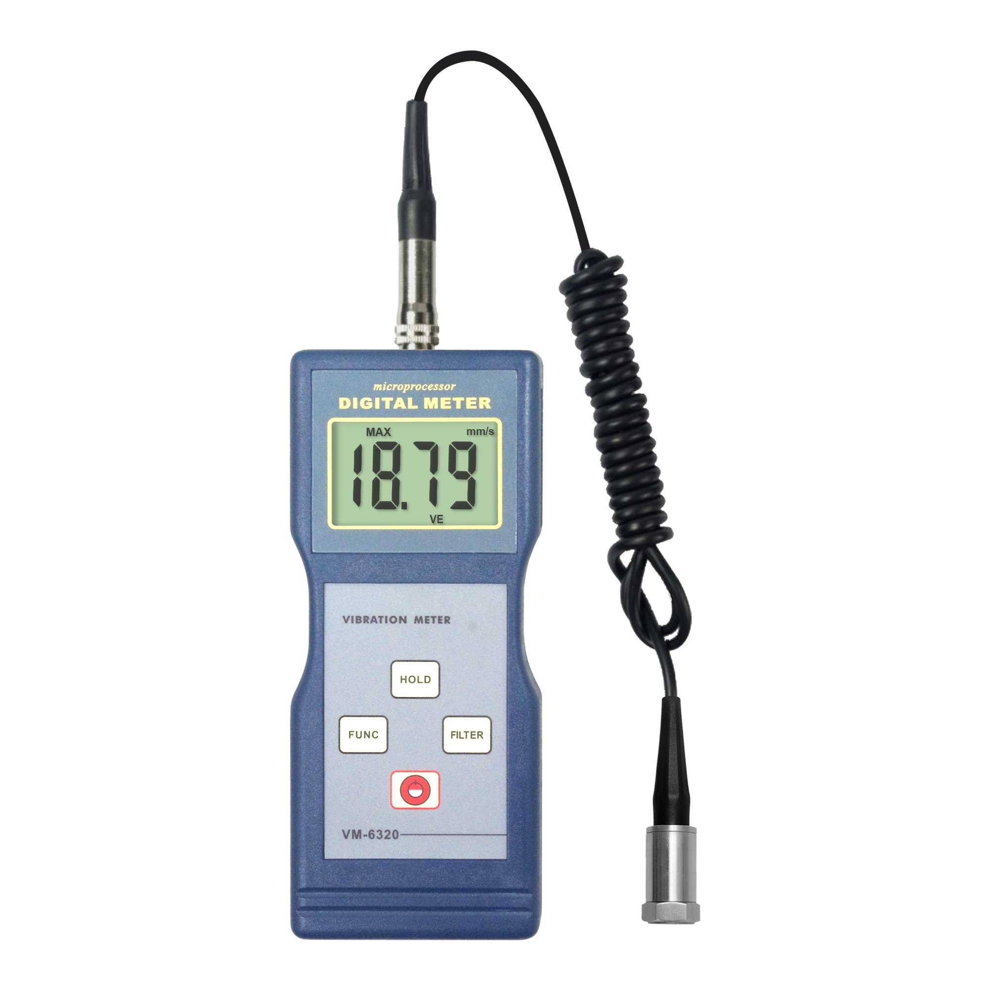 VM-6320 Portable Vibrometer Mechanical Vibrate Gauge Vibration Meter for Moving Machinery with RS232 Output