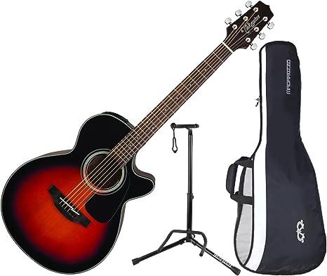 TAKAMINE gf30ce-bsb brillante marrón Sunburst acústica guitarra ...