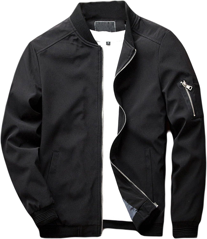sandbank Men's Slim Fit Lightweight Softshell Flight Bomber Jacket Coat at  Men's Clothing store
