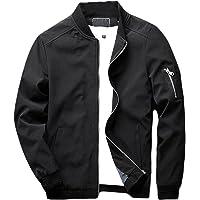 699cdb705c sandbank Men s Slim Fit Lightweight Softshell Flight Bomber Jacket Coat