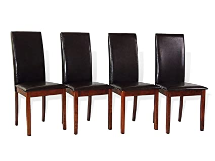 Amazon.com: Juego de 4 sillas de mimbre de mimbre para ...