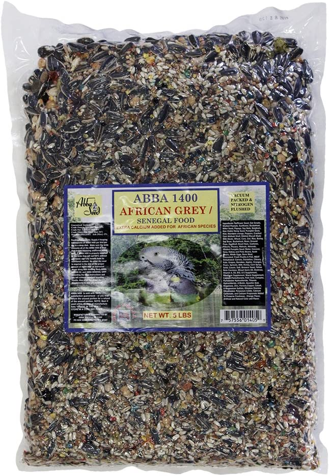 ABBA 1400 Bird Foods African Grey/Senegal Food 5lbs