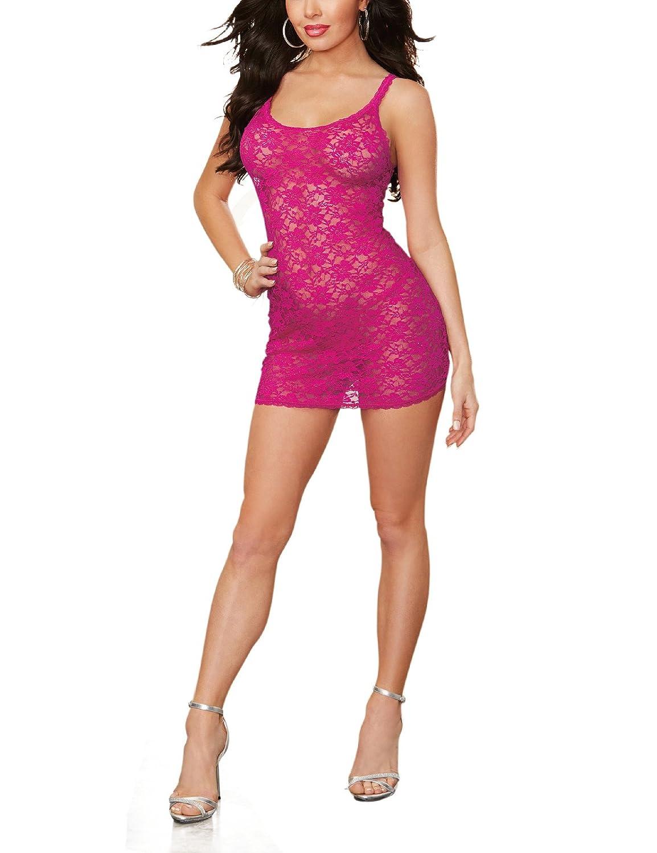 Dreamgirl Style 9818 Spitzen Negligee, verführerisch, magenta, Größe S, 1er Pack (1 x 110 g) verführerisch Größe S 0-09818/3333_S