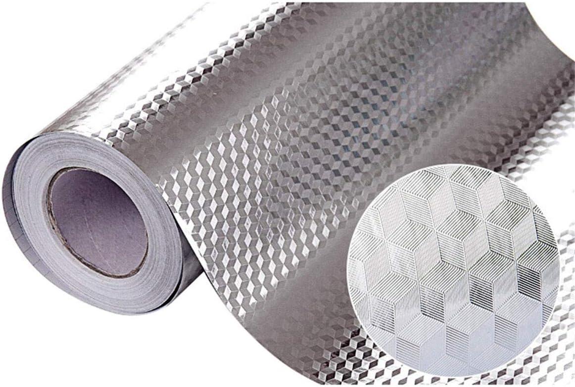 Self Adhesive Waterproof Oil-proof Aluminum Foil Kitchen Cabinet Wall Sticker